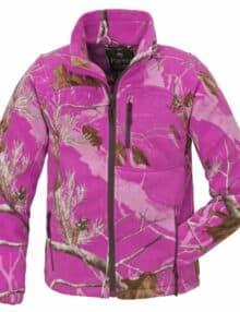 Oviken fleecetrøje pink