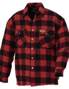 Fleeceskjorte med canadamønster