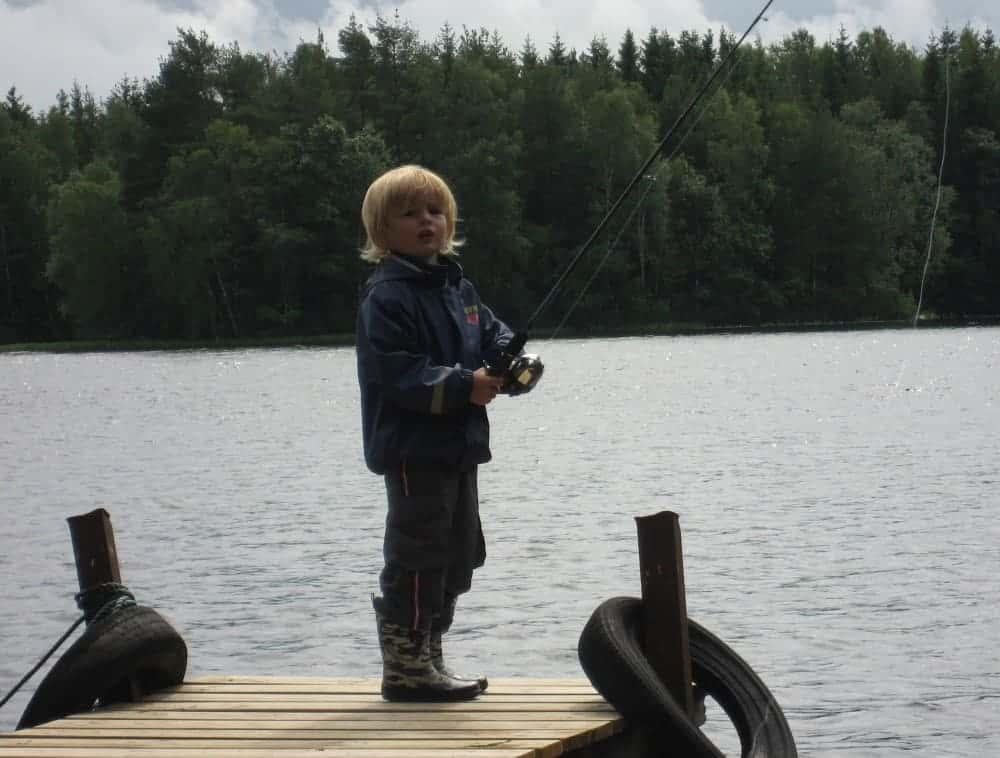 Den første fiskestang