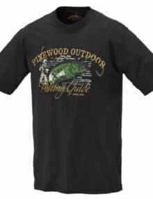 T-shirt med lystfiskerprint