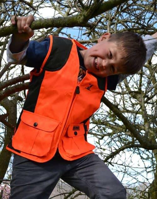 Orange børne jagtvest