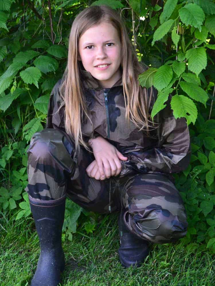 Børne regntøj camouflage