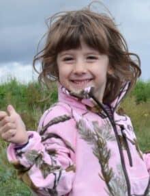 Oviken fleecetrøje lyserød camouflage