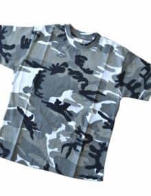 Camouflage t-shirt 8-10 år
