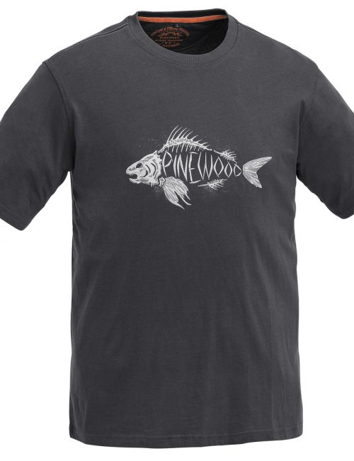 T-shirt med print fisk