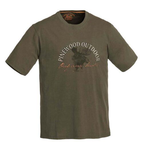 T-shirt med print elg