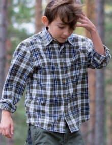 Flannel skjorte til børn