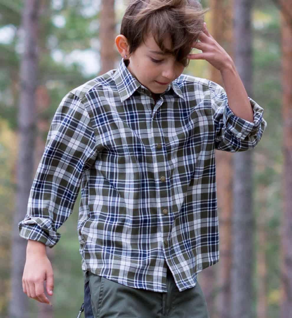 4bd809565b0c Flannel skjorte til børn - Junior Grej skjorter til børn og unge