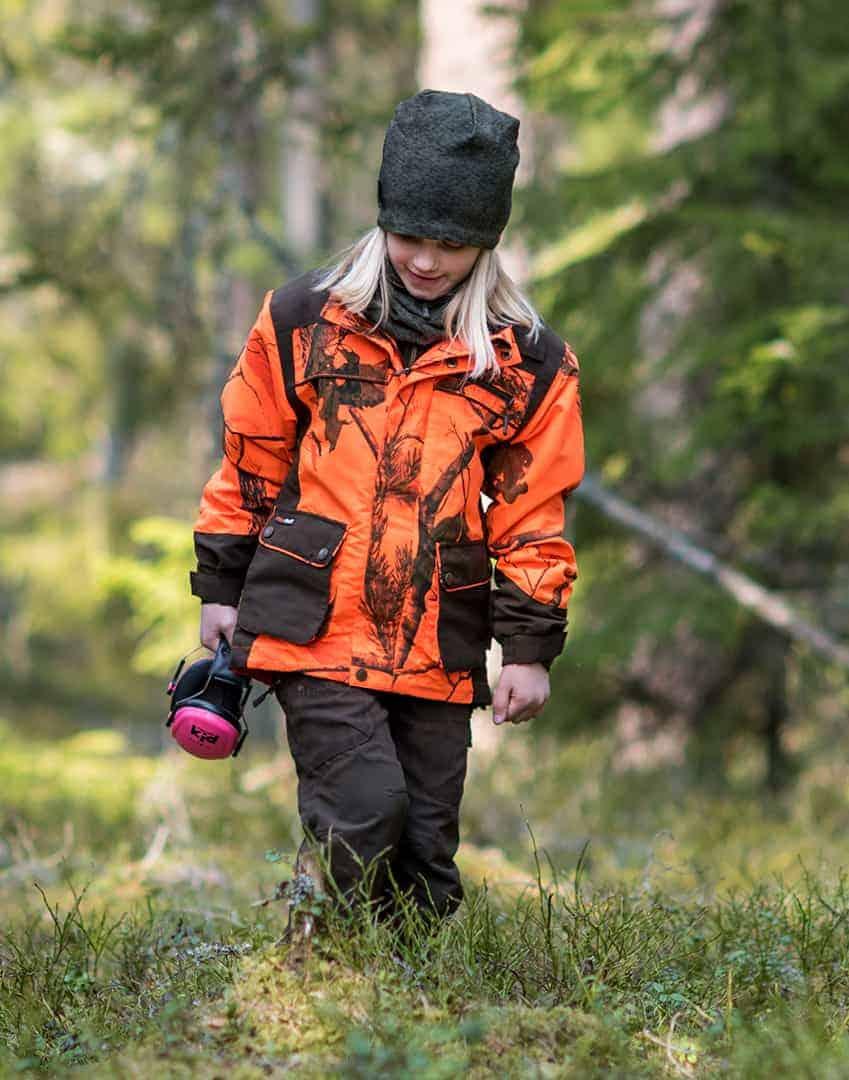 Caribou Hunt bukser Junior Grej børnebukser til jagt, fiskeri, spejder mm.