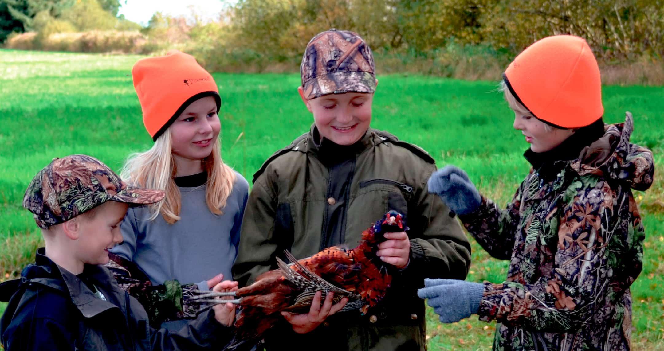 Børn på jagt