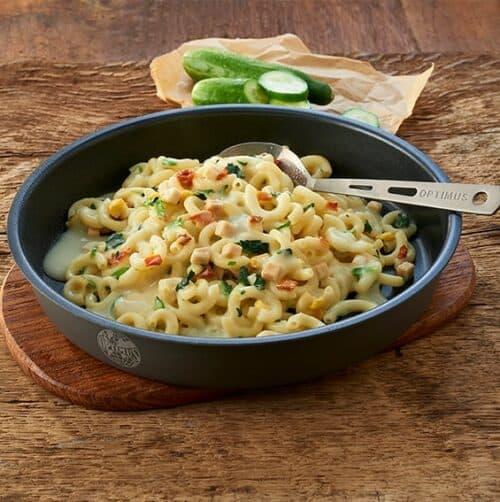 Trek'n pasta med kylling og spinat