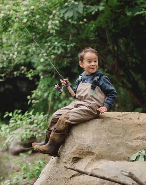 Åndbare waders til børn