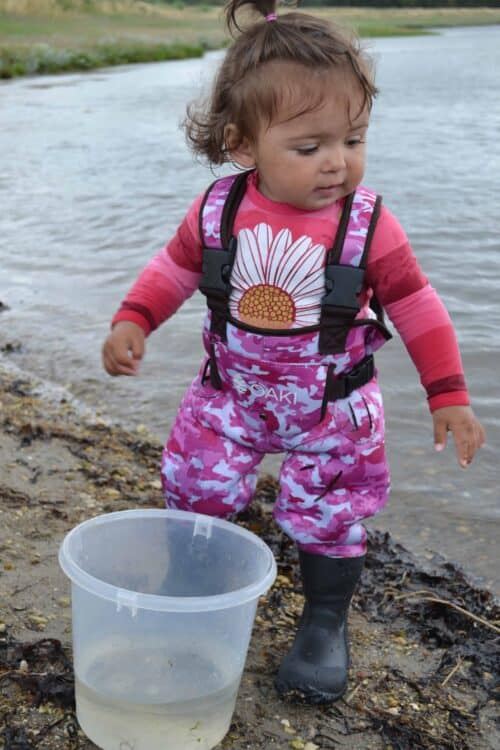 Pink camouflage waders Nicoline
