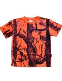 Orange camouflage t-shirt